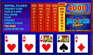 Play Video Poker at Captain Cook Casino
