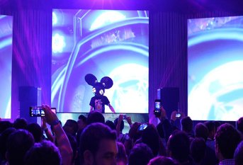 Deadmau5 live on stage