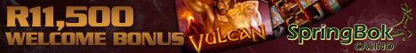 Play the New Slot Game Vulcan at Springbok Casino which offers play in Rands